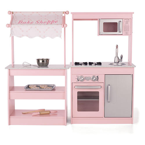 FAO Toys Wooden Play Kitchen and Baeksjop
