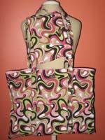 swirls grocery bag