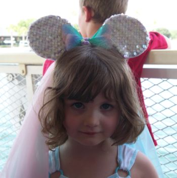 Paige wearing Mickey Mouse Ears