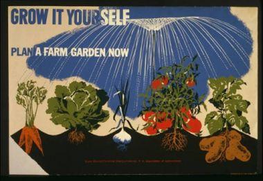 A victory garden poster