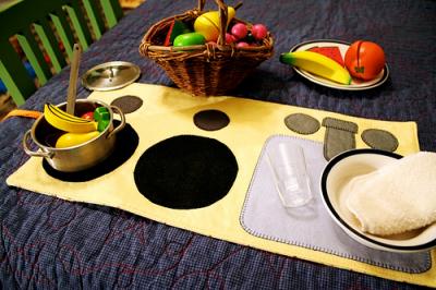 cloth play kitchen