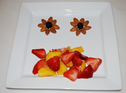 Fruit Salad and blackberry flowers
