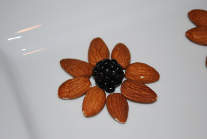 Blackberry flower with almond petals