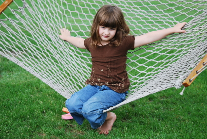 Swinging on Hammock