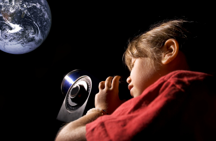 star gazing with children