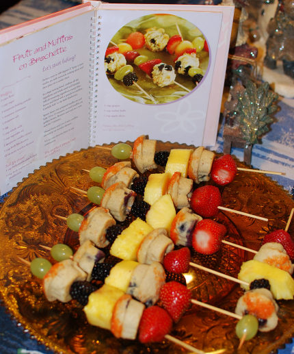 Fruit and Muffins on Brochette