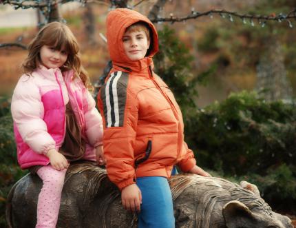 Kids at the Columbus Zoo