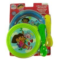 Dora plastic plates and utensils