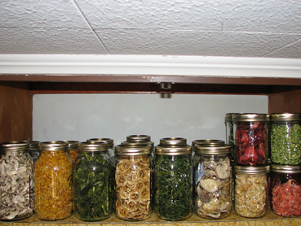 pantry dried fruit and veggies