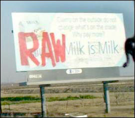 Milk Billboard Vandalized