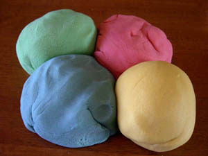 colored play dough